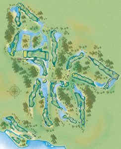 Layout of the Nicklaus Course at Bay Point Resort in PCB FL.